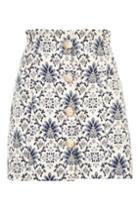 Topshop Porcelain Jacquard Mini Skirt