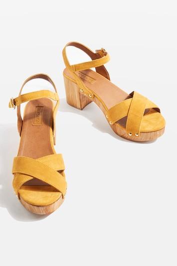 Topshop Valerie Two Cross Strap Sandals