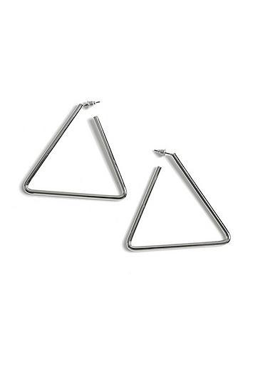 Topshop Triangle Hoop Earrings