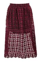 Topshop Geo Lace Prom Skirt