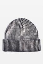 Topshop Foil Beanie Hat
