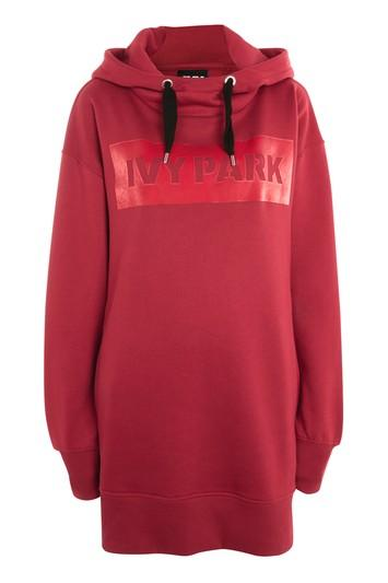 Topshop Velvet Trim Hooded Dress By Ivy Park