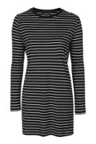 Topshop Stripe Contrast Tunic