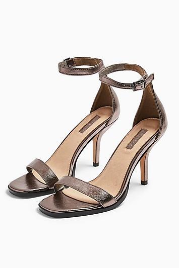 Topshop Sage Curve Open Toe Sandals