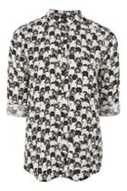 Topshop Cat Print Shirt