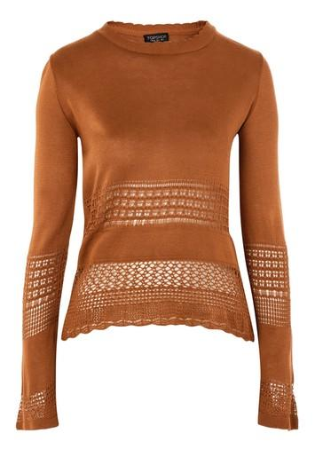 Topshop Scallop Hem Sweater