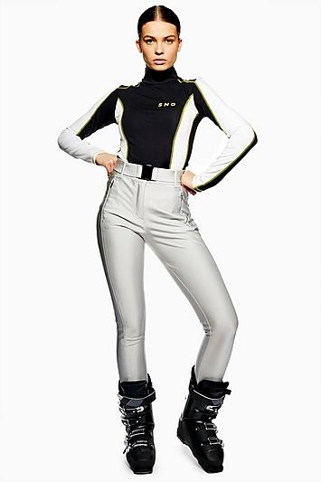 Topshop *metallic Silver Trousers By Topshop Sno