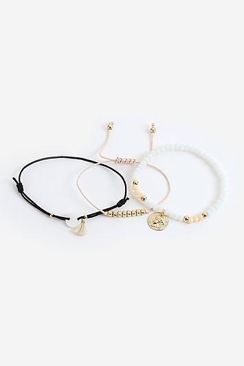 Topshop *bead And Coin Bracelet Pack