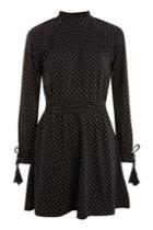Topshop Petite Spot Mini Skater Dress