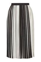 Topshop Tall Stripe Pleat Midi Skirt