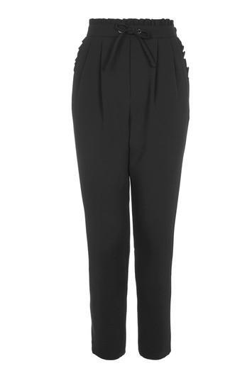 Topshop Frill Waist Peg Trousers