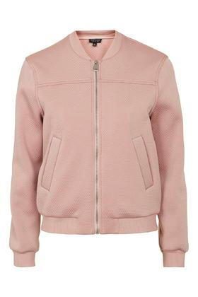 Topshop Punch-textured Bomber Jacket