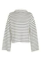 Topshop Petite Wide Sleeve Striped Funnel Jumper
