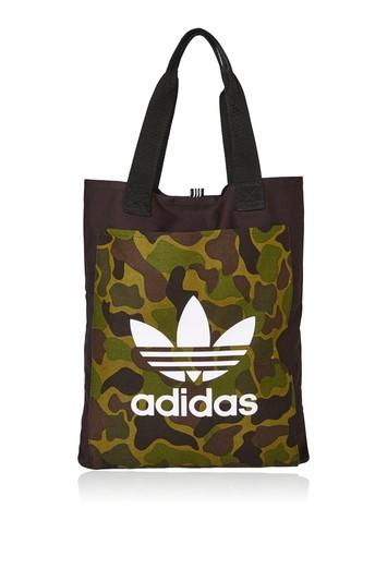 Topshop Black Canvas Shopper Bag By Adidas