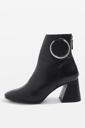 Topshop Mia Leather Ring Boots