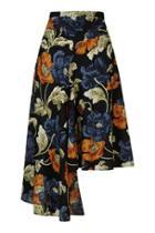 Topshop Floral Asymmetric Skirt