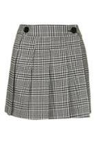 Topshop Check Print Kilt Style Skirt