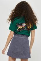 Topshop Petite Spotted Ruffle Mini Skirt