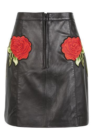 Topshop Rose Leather Skirt By Topshop Finds