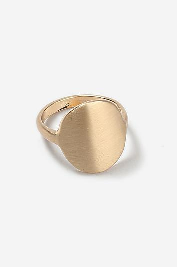 Topshop *brushed Oval Ring