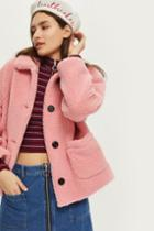 Topshop Cropped Borg Coat