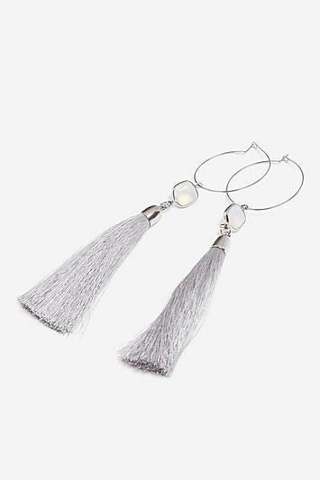 Topshop *semi-precious Tassel Drop Earrings