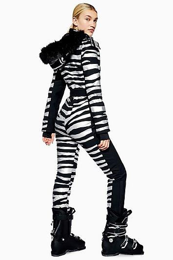 Topshop *zebra Snow Suit By Topshop Sno