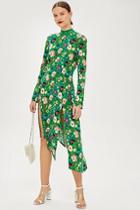 Topshop Petite Floral Chuck On Midi Dress