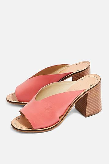 Topshop *wide Fit Heeled Mules