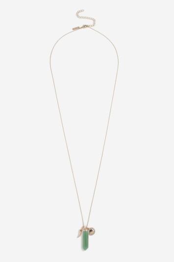 Topshop Gold Aromotherapy Aqua Pendant Necklace