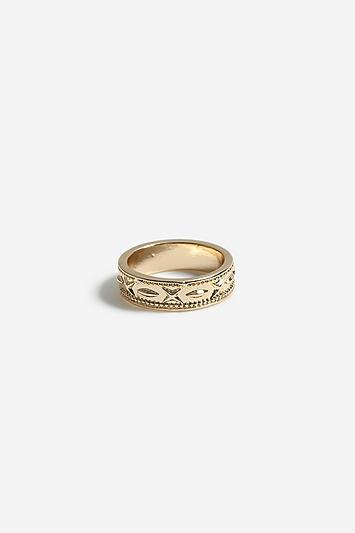 Topshop *etched Twist Ring