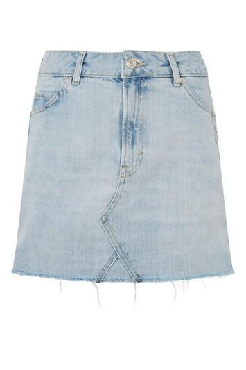 Topshop Moto Popper Mini Skirt