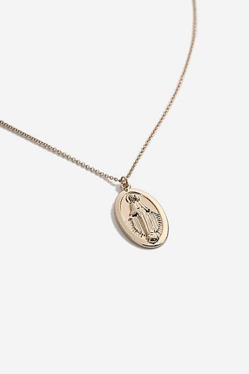Topshop *oval Pendant Necklace