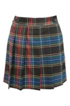 Topshop College Check Kilt Skater Skirt