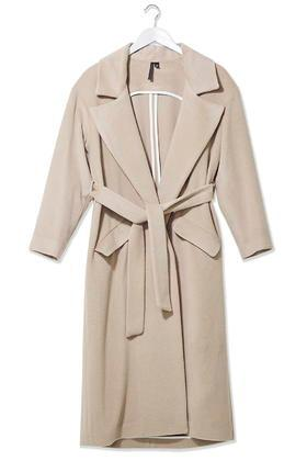 Topshop Wool Blend Wrap Coat By Boutique