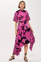 Topshop *silk Poppy Print Dress By Boutique