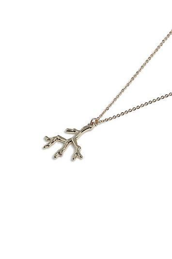 Topshop *coral Ditsy Necklace