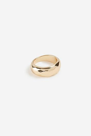 Topshop *etched Effect Pinky Ring