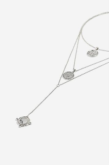 Topshop *coin Multirow Choker Necklace