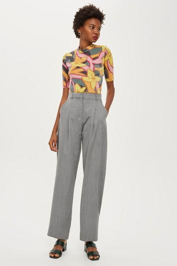 Topshop *herringbone Trousers By Boutique