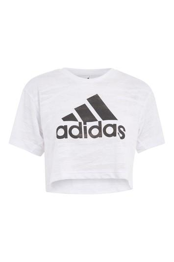 Topshop Aero Knitted Crop T-shirt By Adidas Performance