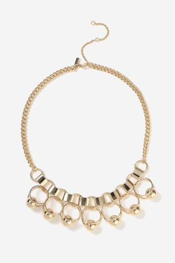 Topshop Chain Link And Drop Statement Necklace