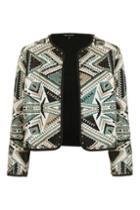 Topshop Studded Jacquard Jacket