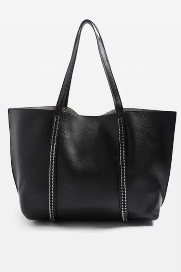 Topshop Sabrina Chain Trim Shopper Bag