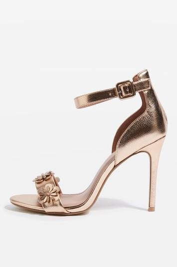 Topshop Mylene Flower Skinny Sandals