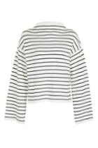 Topshop Tall Wide Sleeve Stripe Funnel Neck Jumper