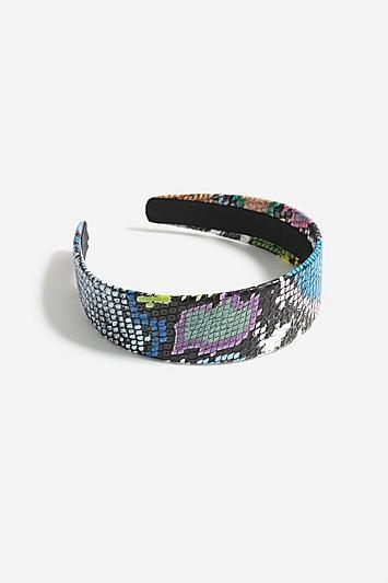 Topshop *multi Coloured Snake Skin Print Headband