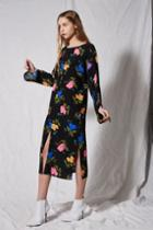 Topshop *batwing Floral Midi Dress By Boutique