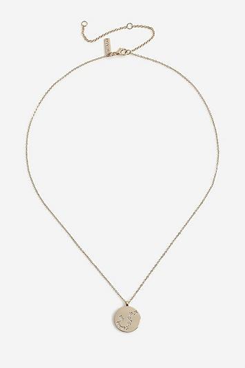 Topshop *aquarius Constellation Ditsy Necklace