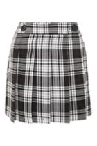 Topshop College Checked Kilt Skirt